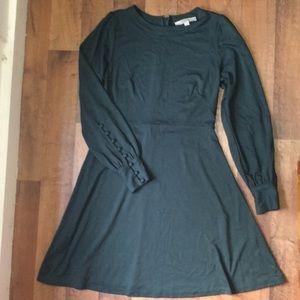 LOFT Hunter Green Long Sleeved Dress